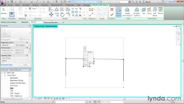 Site creation: Designing a House in Revit Architecture