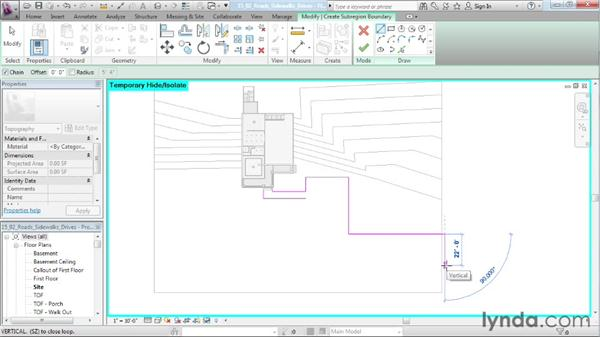 Creating roads, sidewalks, and driveways: Designing a House in Revit Architecture