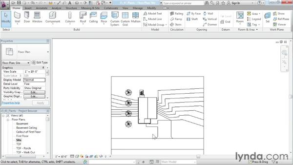 Adding plants: Designing a House in Revit Architecture