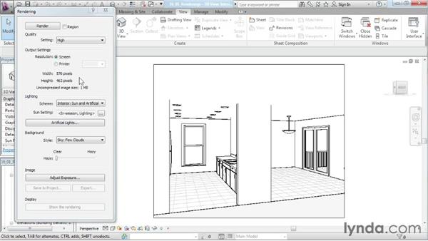 Exploring dynamic renderings: Designing a House in Revit Architecture