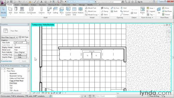 Creating floor plans for presentations: Designing a House in Revit Architecture