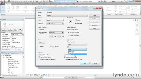 Printing: Designing a House in Revit Architecture