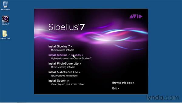 Installing and launching Sibelius: Sibelius 7 Essential Training