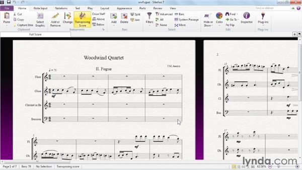 Opening a score: Sibelius 7 Essential Training