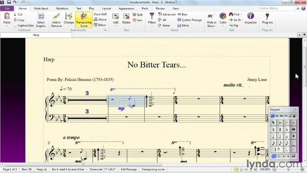 Understanding the single-document interface: Sibelius 7 Essential Training