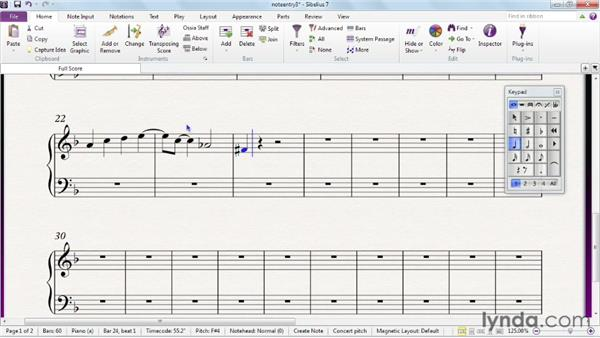 Advanced alphabetic note entry: Sibelius 7 Essential Training