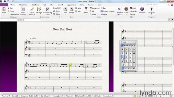 Combining editing techniques for creativity: Sibelius 7 Essential Training