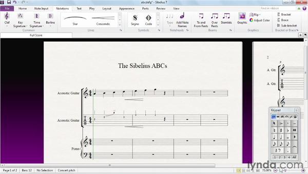The Sibelius ABCs: Sibelius 7 Essential Training