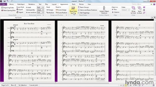 Preparing for a final layout: Sibelius 7 Essential Training