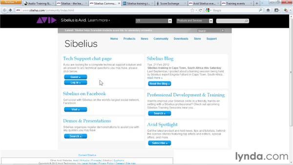 Additional resources: Sibelius 7 Essential Training
