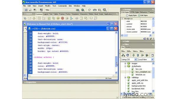 using the @import device: Intermediate Dreamweaver MX