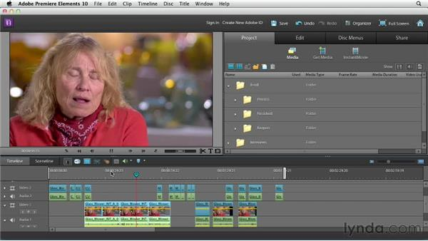 Trimming interview shots: Creating a Mini Documentary with Premiere Elements