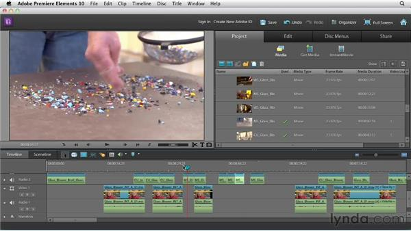 Identifying editing opportunites: Creating a Mini Documentary with Premiere Elements