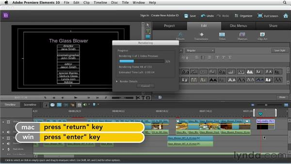 Creating a credit roll: Creating a Mini Documentary with Premiere Elements