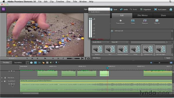 Mixing dialog and music: Creating a Mini Documentary with Premiere Elements