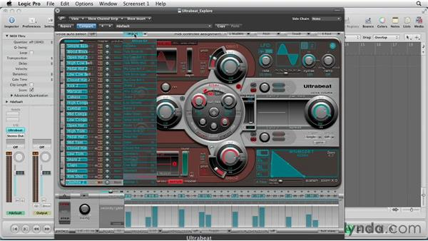 Importing settings into Ultrabeat: Virtual Instruments in Logic Pro