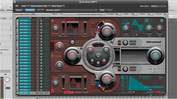 Shaping with the envelopes: Virtual Instruments in Logic Pro