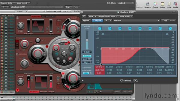 Filtering and setting distortion: Virtual Instruments in Logic Pro