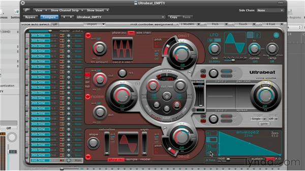 Synthesizing a snare drum: Virtual Instruments in Logic Pro