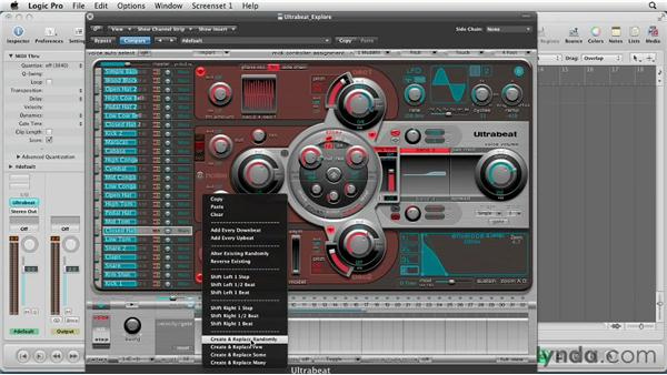 Sequencing in the step sequencer: Virtual Instruments in Logic Pro
