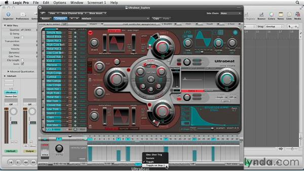 Working with the playback options: Virtual Instruments in Logic Pro