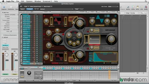Sequencing automation in Step Edit mode: Virtual Instruments in Logic Pro