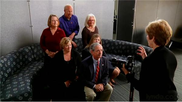 Taking a portrait of a business group: Family and Group Portraiture