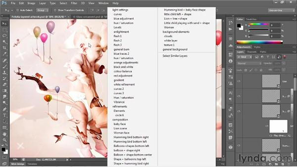 The searchable Layers panel: Photoshop CS6 New Features