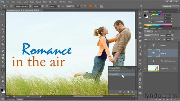 Text enhancements & styles: Photoshop CS6 New Features