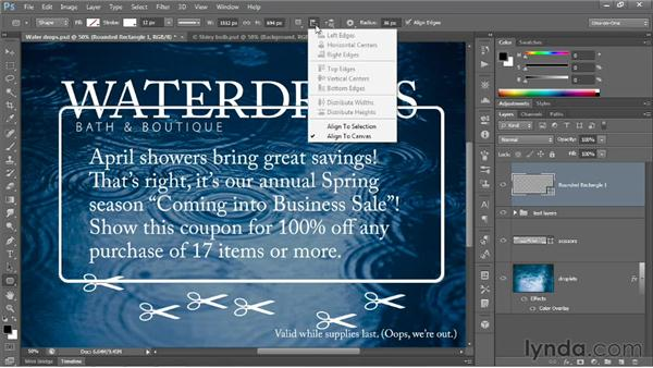 Filling & stroking shape layers: Photoshop CS6 New Features