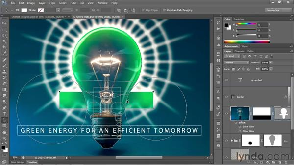 Aligning and stacking vector-based shapes: Photoshop CS6 New Features