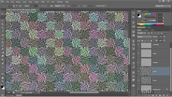 Working with the Scripted Patterns: Photoshop CS6 New Features