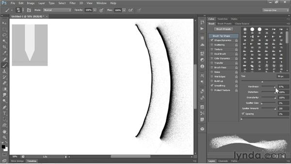 Erodible brush tips & airbrushes: Photoshop CS6 New Features