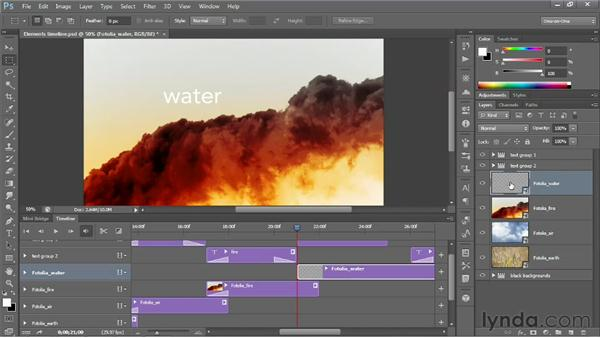Editing videos in the Timeline panel: Photoshop CS6 New Features