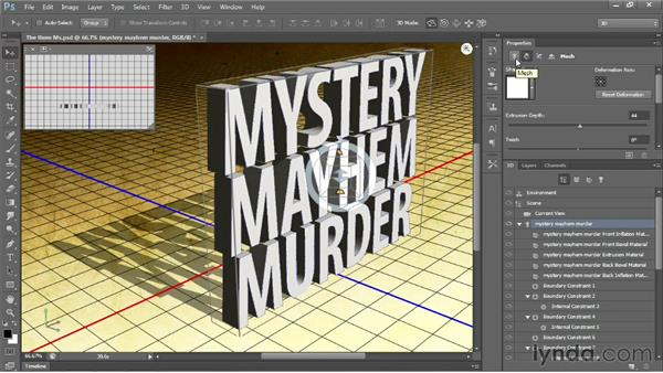 Making editable 3D type: Photoshop CS6 New Features