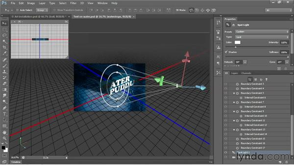 3D shadows and reflections: Photoshop CS6 New Features