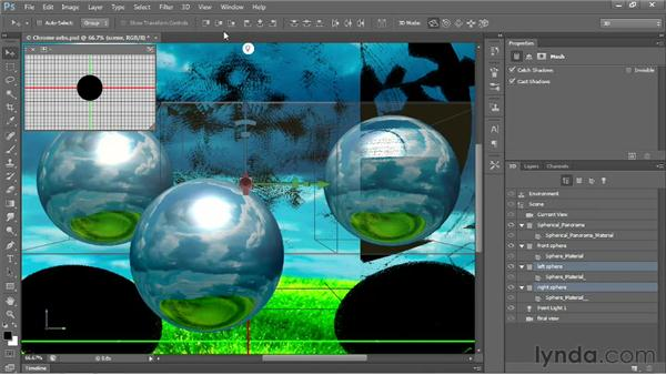 Aligning and distributing meshes in 3D: Photoshop CS6 New Features