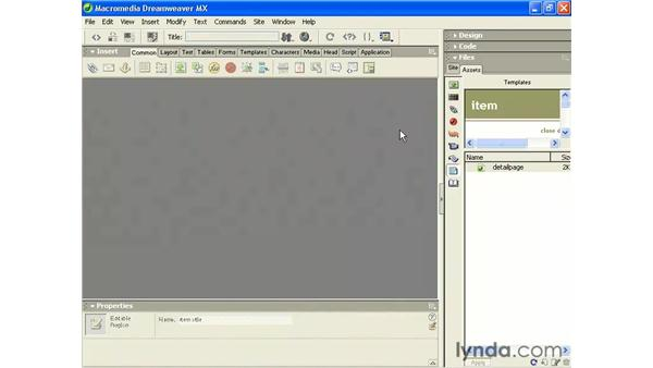updating pages from an existing page: Intermediate Dreamweaver MX