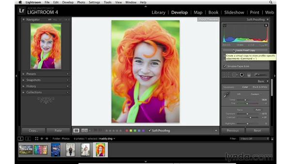 Creating better prints by soft proofing: Lightroom 4 Essentials: 03 Creating Prints and Books
