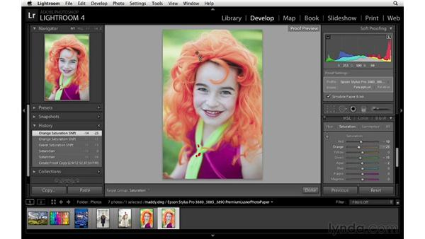 Correcting a soft proof copy: Lightroom 4 Essentials: 03 Creating Prints and Books