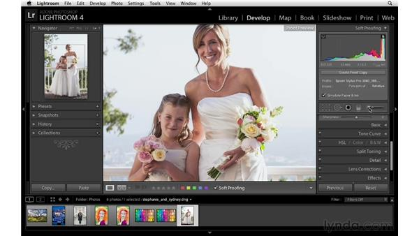 Painting away soft proof gamut problems: Lightroom 4 Essentials: 03 Creating Prints and Books