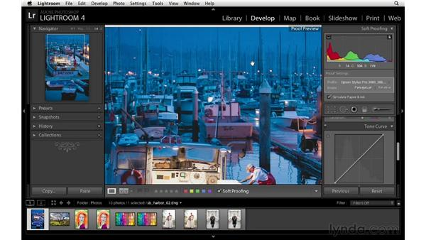 Fine-tuning soft proof color: Lightroom 4 Essentials: 03 Creating Prints and Books