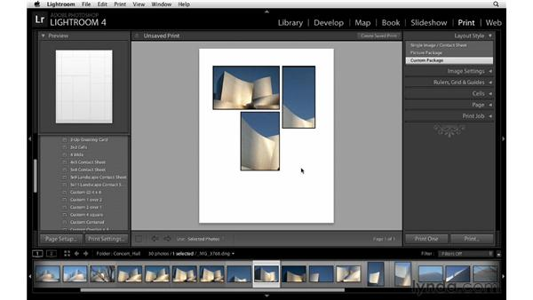 Using print templates: Lightroom 4 Essentials: 03 Creating Prints and Books