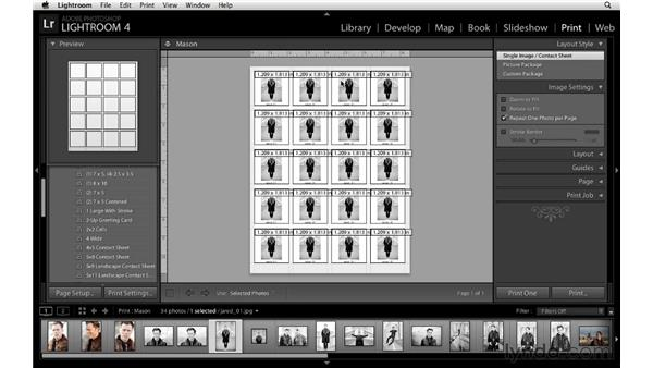 Customizing the layout of a single image: Lightroom 4 Essentials: 03 Creating Prints and Books