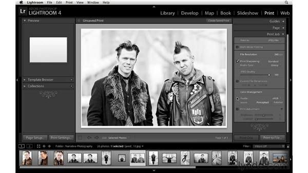 Setting up to print JPEG images: Lightroom 4 Essentials: 03 Creating Prints and Books