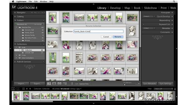 Creating collections for a book project: Lightroom 4 Essentials: 03 Creating Prints and Books