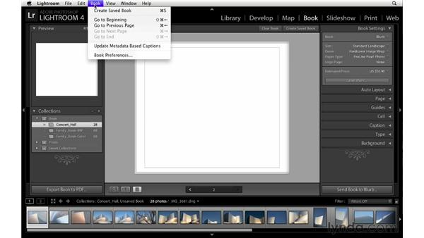 Choosing book settings and preferences: Lightroom 4 Essentials: 03 Creating Prints and Books