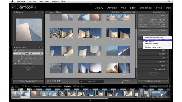 Editing Auto Layout presets: Lightroom 4 Essentials: 03 Creating Prints and Books