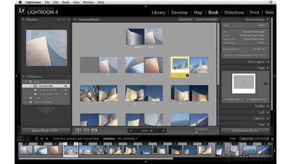 Customizing the page layout: Lightroom 4 Essentials: 03 Creating Prints and Books