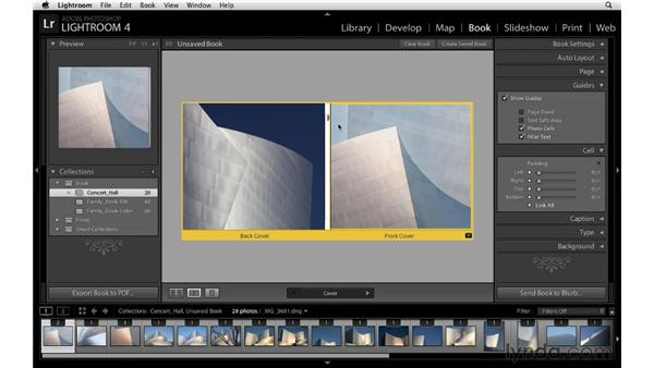 Using guides and cell controls: Lightroom 4 Essentials: 03 Creating Prints and Books